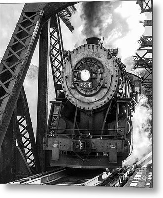 Steam Engine 734 Leaving The Narrows Metal Print by Jeannette Hunt