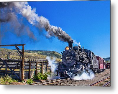 Steam Engine Relic Metal Print
