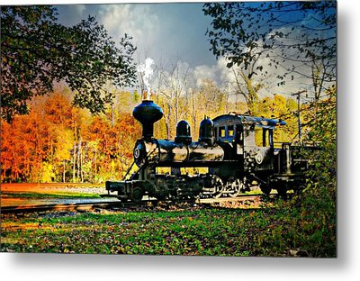 Steam Loco Circa 1909 Metal Print by Diana Angstadt