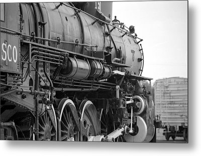 Steam Locomotive 1519 - Bw 02 Metal Print by Pamela Critchlow