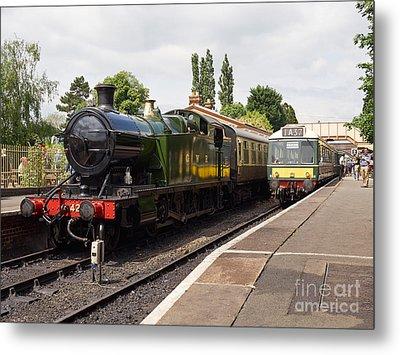Steam Locomotive At Toddington Metal Print