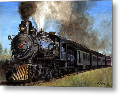 Steam Locomotive Metal Print by Dale Jackson
