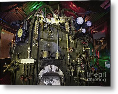 Metal Print featuring the photograph Steam Locomotive Engine by Keith Kapple