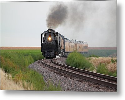 Steam On The Plains Metal Print by Jason Drake