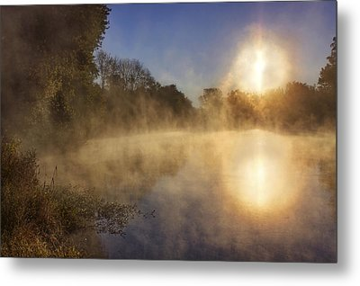 Steam On The Water Metal Print by Jason Politte