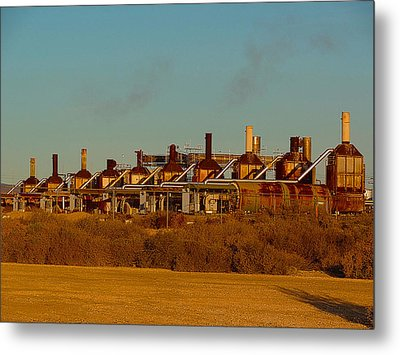 Metal Print featuring the photograph Steam Plant In Cymric Field by Lanita Williams