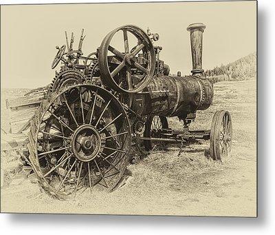 Steam Powered Farm Tractor - Molson Ghost Town Metal Print by Daniel Hagerman