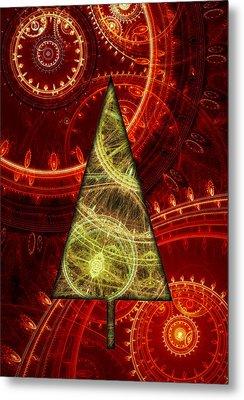 Steam Punk Christmas 1 Metal Print by Martin Capek
