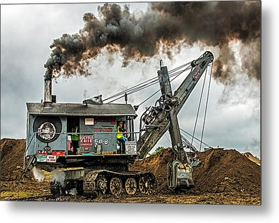 Steam Shovel Metal Print