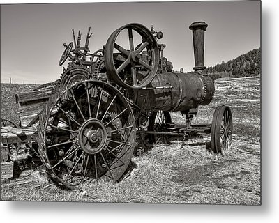 Steam Tractor - Molson Ghost Town Metal Print by Daniel Hagerman