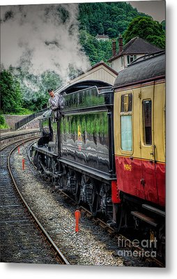 Steam Train 3802 Metal Print by Adrian Evans