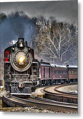 Steam Train Metal Print