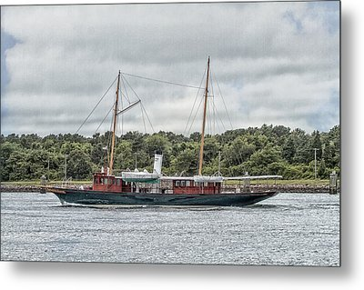 Steam Yacht Cangarda Metal Print by Constantine Gregory