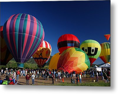Steamboat Balloon Rising  Metal Print by Michael J Bauer