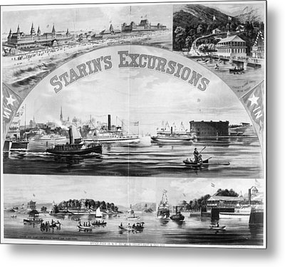 Steamboat Excursions, C1878 Metal Print by Granger