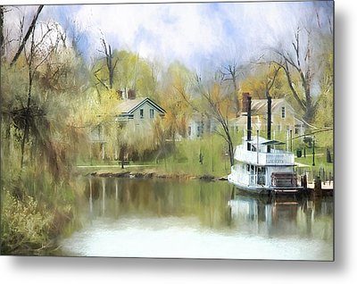 Steamboat Landing In The South Metal Print by Ike Krieger