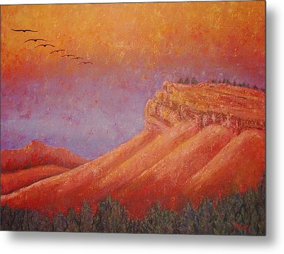 Steamboat Mountain At Sunrise Metal Print by Margaret Bobb