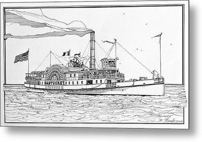 Steamboat Nantucket 1900 Metal Print by Ira Shander