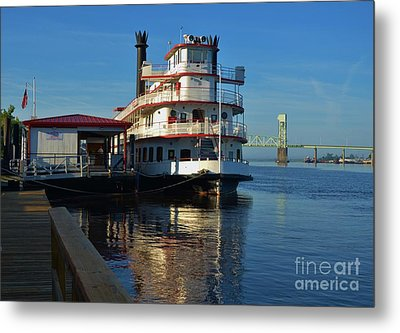 Steamboat Reflections Metal Print