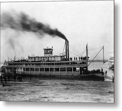 Steamboat Tarascon, C1870 Metal Print by Granger