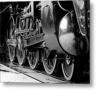 Steamer Up 844 Wheels Metal Print by Bartz Johnson