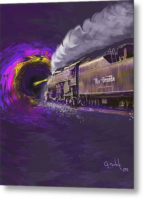 Steaming Into The Black Hole Of History Metal Print
