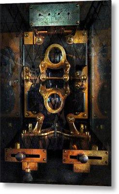 Steampunk - Electrical - The Power Meter Metal Print by Mike Savad