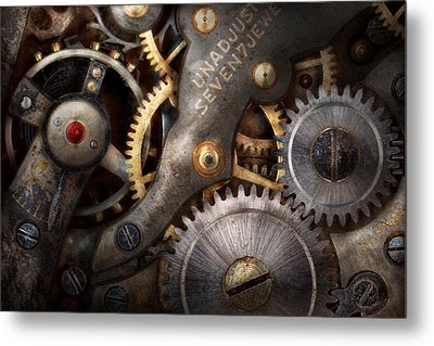 Steampunk - Gears - Horology Metal Print by Mike Savad