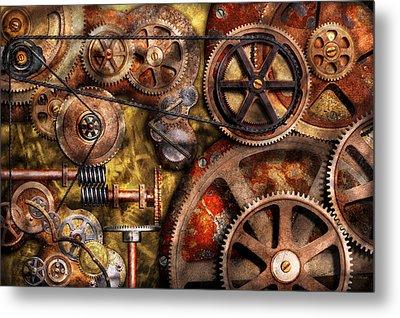 Steampunk - Gears - Inner Workings Metal Print by Mike Savad