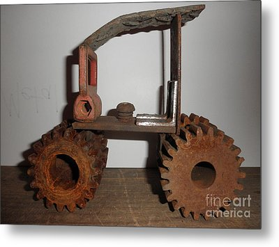Steampunk Gears Metal Print by Michael Sauro