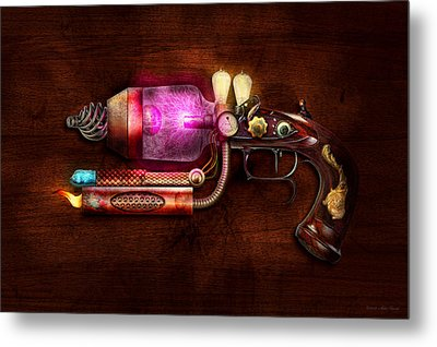 Steampunk - Gun -the Neuralizer Metal Print by Mike Savad
