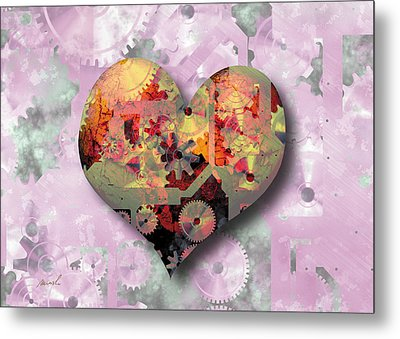 Steampunk Heart Metal Print