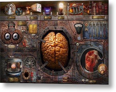 Steampunk - Information Overload Metal Print