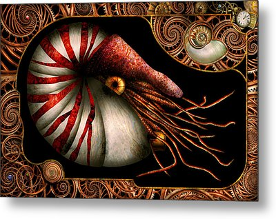 Steampunk - Nautilus - Coming Out Of Your Shell Metal Print by Mike Savad