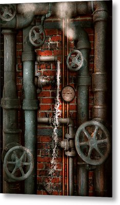 Steampunk - Plumbing - Pipes And Valves Metal Print