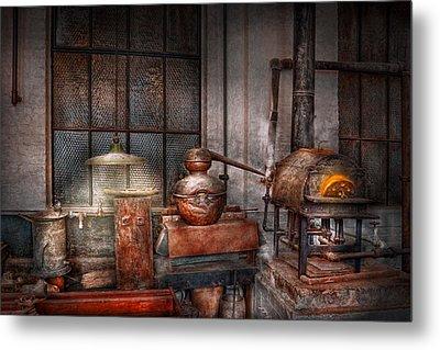 Steampunk - Private Distillery  Metal Print by Mike Savad
