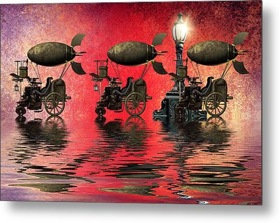Steampunk Metal Print by Sharon Lisa Clarke