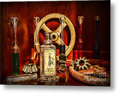 Steampunk - Spare Gears - Mechanical Metal Print by Paul Ward