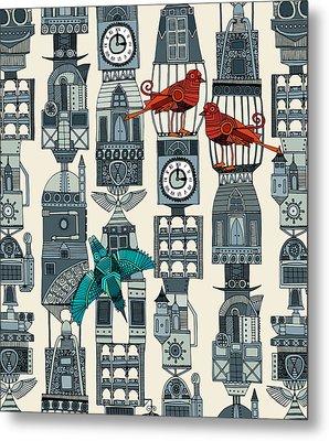 Steampunk Towers Metal Print