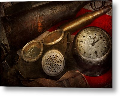 Steampunk - War - Remembering The War Metal Print by Mike Savad