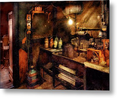 Steampunk - Where Experiments Are Done Metal Print by Mike Savad
