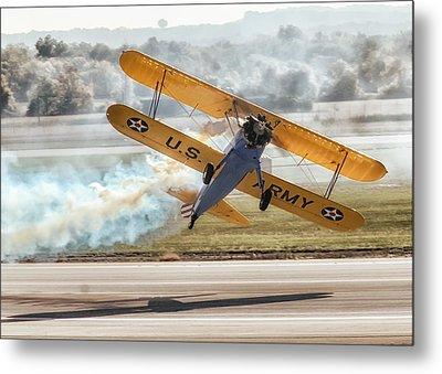 Stearman Model 75 Biplane Metal Print by Alan Toepfer