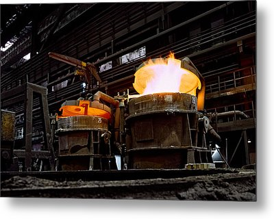 Steel Industry In Smederevo. Serbia Metal Print