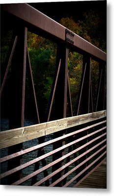 Metal Print featuring the photograph Steel Lines by Cathy Shiflett