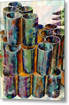 Steel Pipes Metal Print