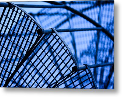 Steel Stairs  Closeup Metal Print by Tommytechno Sweden
