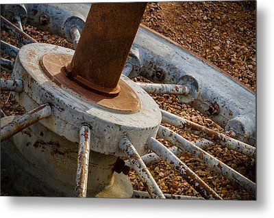 Metal Print featuring the photograph Steel Wheel by Beverly Parks