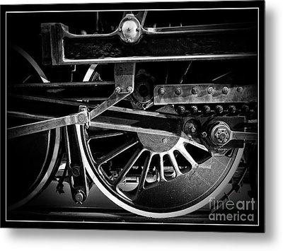 Steel Wheels - Steam Train Drivers Metal Print