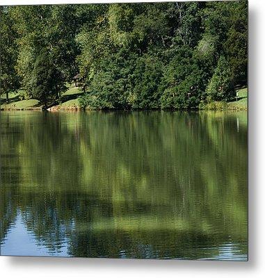 Steele Creek Park Reflections Metal Print