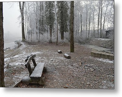 Metal Print featuring the photograph Steep And Frost - 3 by Felicia Tica